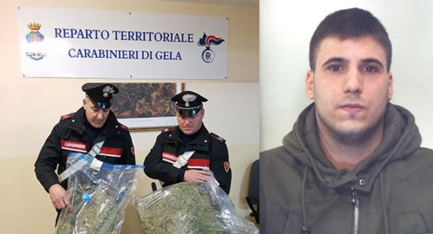 Giovane catanese arrestato dai CC con 5 kg di droga